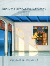 book cover of Business Research Methods 6e by William G. Zikmund