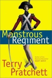 book cover of Monstrous Regiment by Terry Pratchett