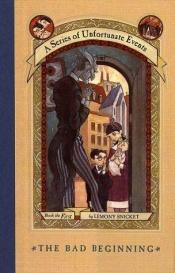 book cover of The Bad Beginning by Lemony Snicket