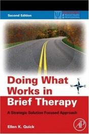 book cover of Doing What Works in Brief Therapy, Second Edition: A Strategic Solution Focused Approach (Practical Resources for the Mental Health Professional) by Ellen K. Quick
