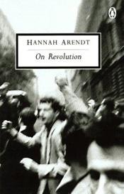 book cover of On Revolution by Hannah Arendt