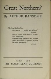 book cover of Great Northern?: A Scottish Adventure (Swallows and Amazons 12) by Arthur Ransome