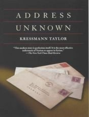 book cover of Address unknown by Kathrine Kressmann Taylor