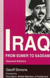 book cover of Iraq: From Sumer to Saddam by Geoff Simons
