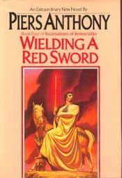 book cover of Wielding a Red Sword by Piers Anthony