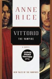 book cover of Vittorio the Vampire by Anne Rice