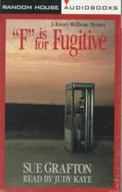 "book cover of ""F"" for flukt by Sue Grafton"