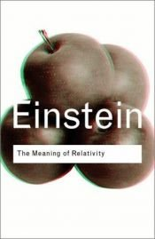 book cover of The Meaning of Relativity by Albert Einstein