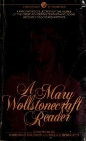 book cover of A Mary Wollstonecraft reader by Mary Wollstonecraft