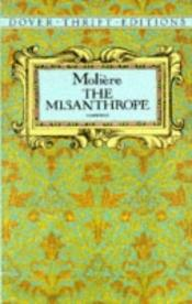 book cover of The Misanthrope (Dover Thrift S.) by מולייר