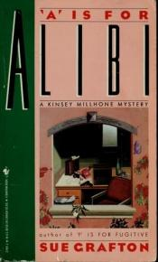 "book cover of ""A"" for alibi by Sue Grafton"