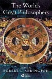 book cover of The World's Great Philosophers by author not known to readgeek yet
