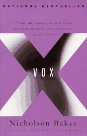 book cover of Vox by Nicholson Baker