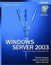 book cover of Microsoft Windows Server 2003 Administrator's Companion by Sharon Crawford