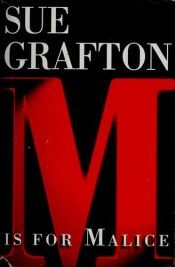 "book cover of ""M"" Is for Malice by Sue Grafton"