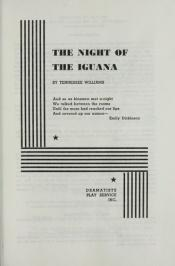 book cover of The Night of the Iguana by Tennessee Williams