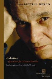 book cover of Judeities: Questions for Jacques Derrida (Perspectives in Continental Philosophy) by Bettina Bergo