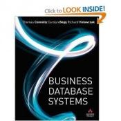 book cover of Business Database Systems by Thomas M. Connolly