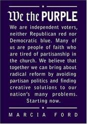 book cover of We the purple : faith, politics, and the independent voter by Marcia Ford