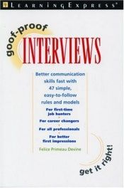 book cover of Goof-Proof Interviews by LearningExpress Editors
