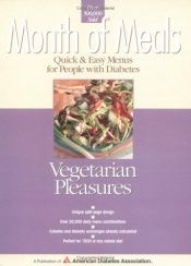 book cover of Month of Meals: Vegetarian Pleasures (Month of Meals Menu Planning) by American Diabetes Association