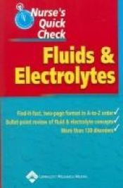 book cover of Nurse's Quick Check: Fluids and Electrolytes by Springhouse