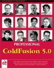 book cover of Professional ColdFusion 5.0 by Simon Horwith