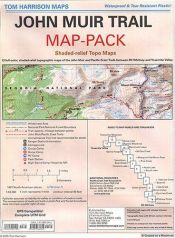 book cover of John Muir Trail Map-Pack: Shaded Relief Topo Maps by Tom Harrisson