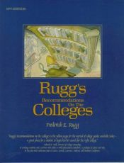 book cover of Rugg's Recommendations on the Colleges 1996 (13th ed) by Frederick E. Rugg