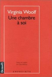 book cover of Une chambre à soi by Virginia Woolf