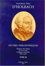 book cover of D'holbach - oeuvres philosophiques completes t3 by Vercruysse Jerome