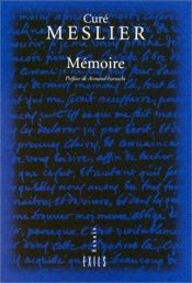 book cover of Mémoire by C Meslier