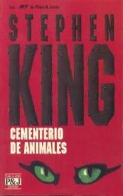 book cover of Cementerio de animales by Stephen King