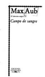 book cover of Campo de sangre by Max Aub