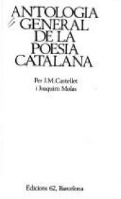 book cover of Antologia general de la poesia catalana by Joaquim Molas