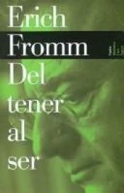 book cover of Tener o ser by Erich Fromm