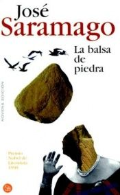 book cover of La balsa de piedra by José Saramago