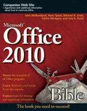 book cover of Microsoft Office 2010 Bible by John Walkenbach
