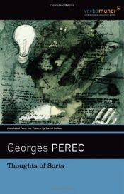 book cover of Thoughts of sorts by Georges Perec