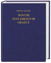 book cover of Novum Testamentum Graece. Schreibrandausgabe by Unknown