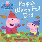 book cover of Peppa's Windy Fall Day (Peppa Pig) by scholastic