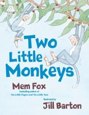 book cover of Two Little Monkeys by Mem Fox