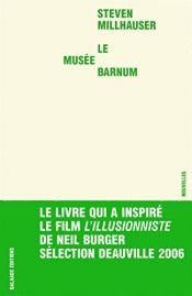 book cover of Le Musée Barnum by Steven Millhauser