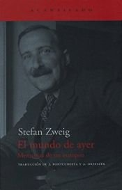 book cover of El mundo de ayer by Stefan Zweig
