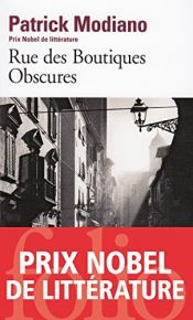 book cover of Rue des Boutiques obscures by Patrick Modiano