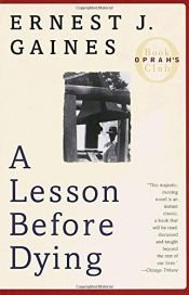 book cover of A Lesson Before Dying by Ernest J. Gaines