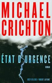 book cover of État d'urgence by Michael Crichton