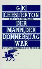 book cover of Der Mann, der Donnerstag war by G. K. Chesterton